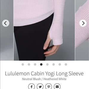 lululemon athletica Sweaters - SOLD Lululemon Cabin Yogi Long Sleeve Knit Sweater